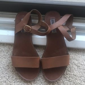 Steve Madden brown leather sandals size 7